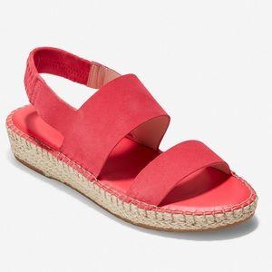 Cole Haan || Cloudfeel Espadrille Leather Sandal 9